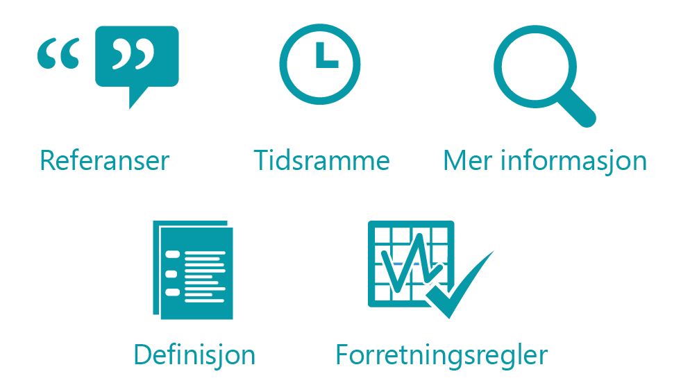 References, time frame, more details, definition, business rules