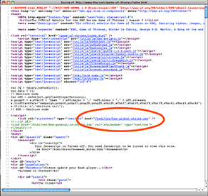 If styles are not located in the page source, you must go to the cascading style sheet for font information.