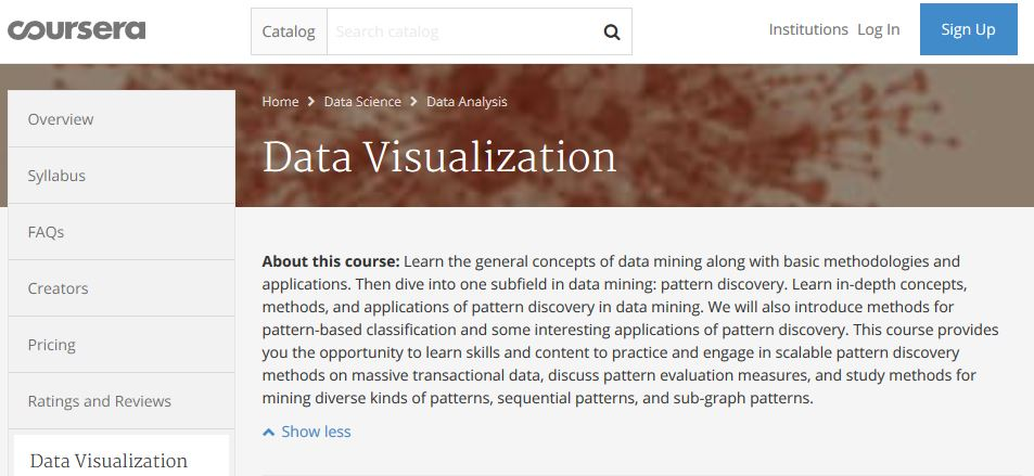 Coursera web site home page