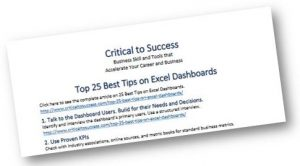 Top 25 best tips on Excel dashboards