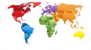 color coded map of the world