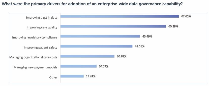 What were the primary drivers for adoption of an enterprise-wide data governance capability?