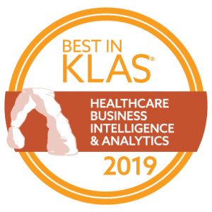 2019 Best in KLAS Logo for Healthcare Business Intelligence & Analytics