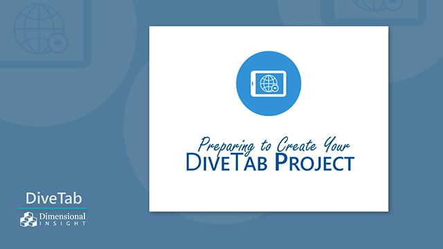Preparing to Create Your DiveTab Project